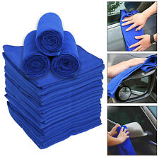 20 Large Blue Microfibre Cleaning Auto Car Detailing Soft Cloths Wash Towel UK