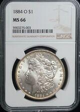 NGC MS 66 1884 O Morgan Silver One Dollar S$1 Uncirculated Coin