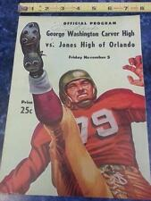 Vintage George Washington Carver High  1958 program