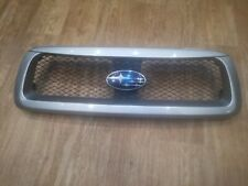 SUBARU FORESTER SG 2002-2005 X XT JDM STI FRONT GRILLE SILVER O1G MESH GRILLE
