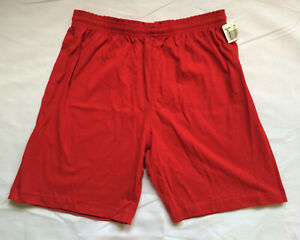Vintage Russell Athletic Gym Shorts Red USA Made Teen YOUTH XL NOS New w/Tag