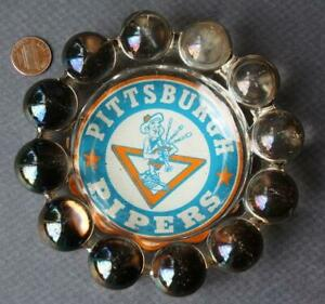 1967 First Year ABA Pittsburgh Pipers ABA Champions ashtray-Connie Hawkins team!
