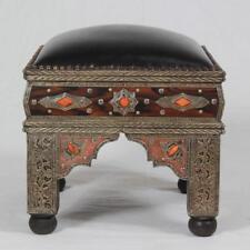 Orientalischer Marokkanischer Hocker Sitzhocker Bank Fußhocker Sitzbank Hana
