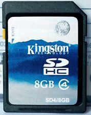 Kingston 8GB SD/SDHC class 4 memory card,