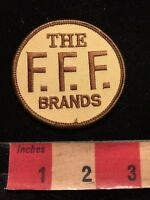 Vintage (circa 1980s) THE F.F.F. BRANDS Advertising Patch 85I5