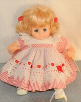 "Madame Alexander Vintage 1965 PUSSYCAT 15"" new crier pretty red and white stripe"