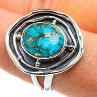 Blue Copper Turquoise 925 Sterling Silver Ring Size 9 Ana Co Jewelry R43200F