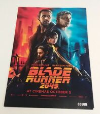 ORIGINAL BLADE RUNNER 2049 A3 ODEON MOVIE POSTER HARRISON FORD RYAN GOSLING
