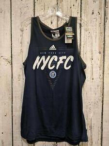 LZ Mens Large Adidas Sleeveless Tank New York City Football Club Navy