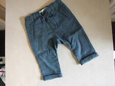 Zara Baby Boy 6-9m Months Lovely Speckled Teal Blue Trousers