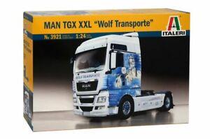 Italeri 3921 1/24 Scale Model Truck Kit German Wolf Transport Man TGX XXL
