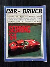 Car & Driver June 1964 Ford GT - Jaguar S-Type - Winternationals - Indianpolis