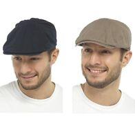 MENS COTTON LINEN FLAT CAP SUMMER BY TOM FRANKS