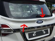 Fit For Ford Everest 2015-2017 Spoiler Center Rear Door Garnish Unpainted