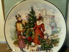 New In Box Vtg1990 Avon Plate-Bringing Christmas Home(22 Kt Gold Trim)-Free Ship