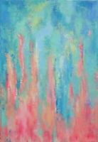 """Peinture, toile Paysage TABLEAU ABSTRAIT ORIGINAL signé HZEN """"FRONDAISONS"""" 50x73"""