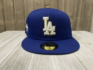 New Era 59/50 Fitted- Los Angeles Dodgers 2020 WC Patch (Blue/White/Gold) 🔥🔥🔥