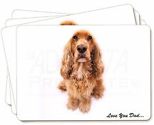 Red Cocker Spaniel 'Love You Dad' Picture Placemats in Gift Box, DAD-189P