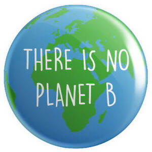 There Is No Planet B BUTTON PIN BADGE 25mm | Climate Change Extinction Rebellion