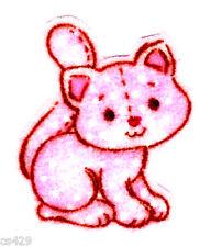 "1.5"" Strawberry shortcake custard cat mini fabric applique iron on character"