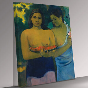 paul gauguin two tahitian women  Canvas Wall Art Picture Print