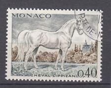 TIMBRE  MONACO OBL N° 834   CHEVEAUX DE SANG CHEVAL LIPPIZAN