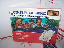 RARE VINTAGE  LICENSE PLATE BINGO  TRAVEL GAME - NEW- 1970s