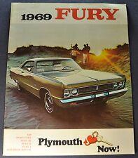 1969 Plymouth Fury Brochure VIP Sport I II III Suburban Wagon Original Canadian