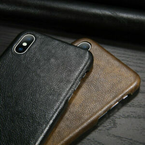 For iPhone Apple 11 Pro XS Max XR 8+ Genuine Leather Hard Case Cover Shockproof