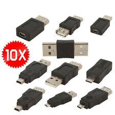 10PCS OTG USB Male to Female Mcro USB mini Changer Adapter Converter Universal