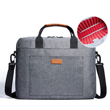 "Laptop Notebook Messenger Bag Carry Case Detachable Strap for 13-14"" Laptop Grey"