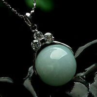 Chinese Handcraft 100% Natural Light Green Jade Pendant Antiques Collection Gift