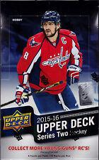 2015-16 Upper Deck Series 2 Hockey sealed unopened hobby box 24 packs of 8 cards