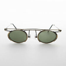 Floating Oval  Lens Steampunk Vintage Sunglass Bronze - ZEBULON