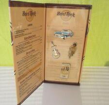 Hard Rock Cafe 2001 LAS VEGAS 4 PIN MENU SET WITH BOX NEW