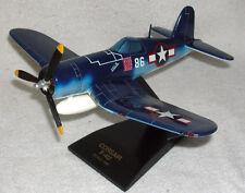 WW2  F4U Corsair Solid Mahogany Model Desktop Airplane Hand Painted 1/48 scale