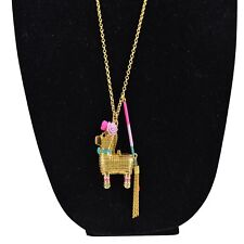 KATE SPADE Gold Tone Scenic Route PINATA Pendant Necklace