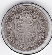 1907    King   Edward   VII   Half   Crown  (2/6d) -  Silver  92.5%  Coin