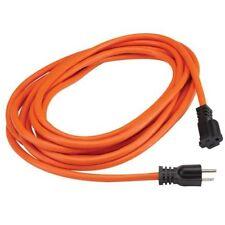 20 Ft 16 Gauge Indoor Outdoor Heavy Duty Power Extension Cord Orange 20' Feet