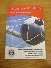30/03/2014 Chelmsford Sunday League Division 4 Cup Final: Daen Ingas Reserves v