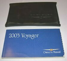 2003 CHRYSLER VOYAGER OWNERS MANUAL GUIDE BOOK SET WITH CASE OEM