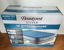"""Beautyrest Queen 18"""" Silver Lumbar Lux Raised Air Mattress with Internal Pump"""