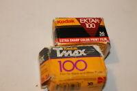 2 Rolls Kodak TMAX-100 ISO 100 Professional Black & White & Ektar 100 Extra b#7