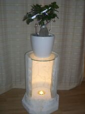 Blumensäule mit Licht Deko Säule Beistelltisch BlumenständerTelefontisch Fossil