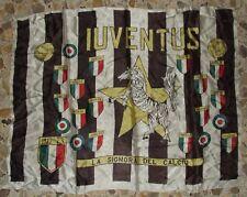 SCIARPA SCARF BANDIERA FLAG CALCIO ULTRAS RASO JUVENTUS 1972-73 (249)