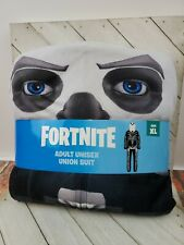 Fortnite Union Suit Skull Trooper Costume Unisex Adult XL white (31)