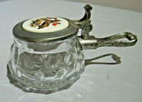 Vintage Rein Zinn Glass and pewter small ashtray
