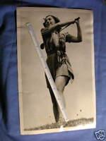 100%ORIG PHOTO FEMALE GOLFER IN  CA 1941#LH1201