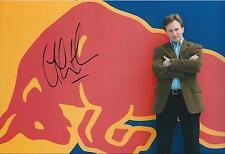 Christian Horner SIGNED Red Bull  Logo POSE AUTOGRAPH 12x8 Photo AFTAL COA
