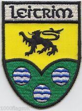 Leitrim County Ireland Irish Flag Embroidered Badge Patch